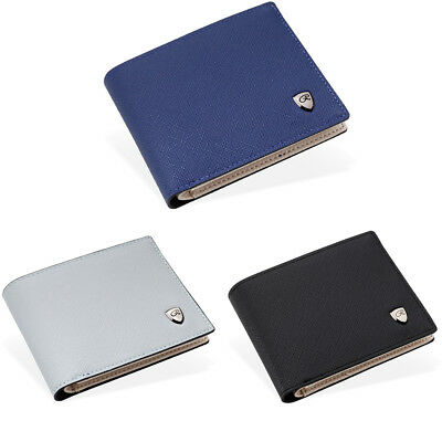Men's PU Leather Business Wallet Slim ID Credit Card Holder Coin Purse Zipper