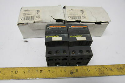 Cooper Bussmann OPM-NG-SC3 3 Pole Class CC Fuse Holder 600V 30A Lot Of 2