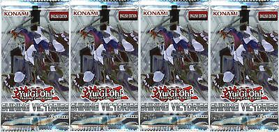 YuGiOh! Shining Victories UNL Edition New And Sealed Booster Packs x4