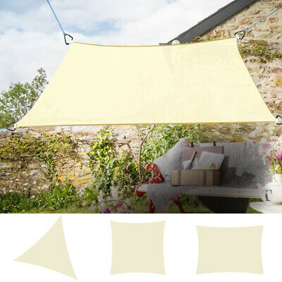 Sun Shade Sail Garden Patio Sunscreen Awning Canopy UV Protection Cream New