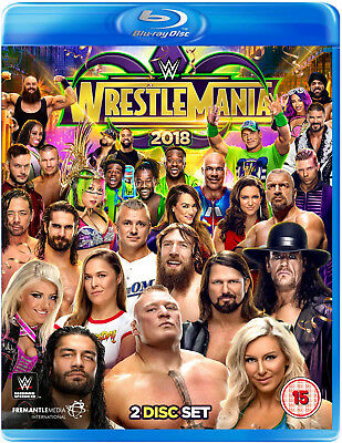 WWE Wrestlemania 34 XXXIV + Monday Night RAW & Smackdown 2x BLU-RAY DEUTSCH