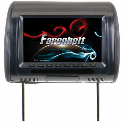 "FARENHEIT 9"" LCD Screen Headrest Monitor w/ IR Wireless Connection 