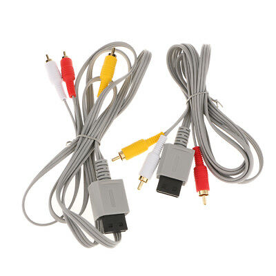 HD TV Composite RCA Audio Video AV Cable Cord Wire Plug for Nintendo Wii