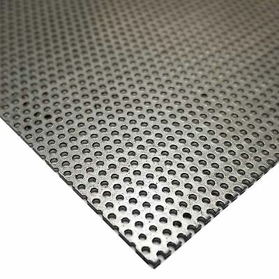 """Steel Perforated Sheet, Thickness: 0.036, Width: 12"""", Length: 24"""", Hole: 0.045"""""""
