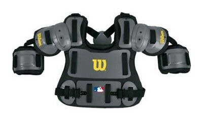 "Wilson Adult Fitted Umpires Chest Protector Baseball Protective Gear Gray (13"")"