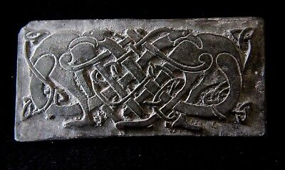 Norse Viking Bronze Tablet with twisted beast 900-1000 AD