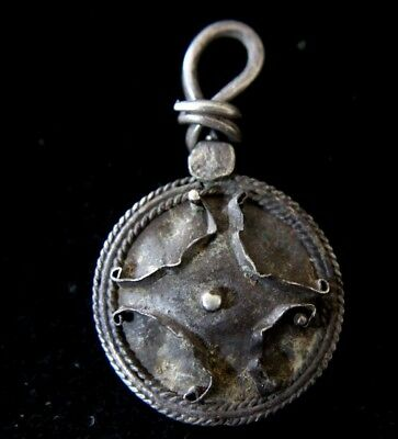 Viking Silver Amulet Pendant with  Cross 1000 AD
