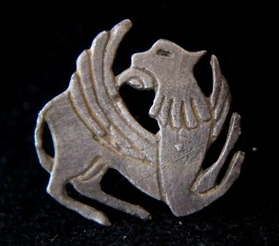 Viking Silver Amulet Depicting Winged Lion  1000 AD