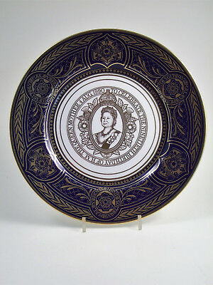 """CAVERSWALL 90th Birthday of Queen Mother 11"""" COMMEMORATIVE PLATE Limited Edition"""