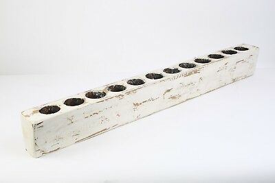 Large 12 hole Sugar Mold-Old Mexican--Sugarmold-Candleholder-Pure White