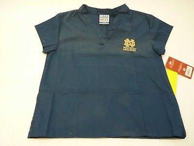 GelScrubs Kids Unisex Medical Scrub Shirt 6774 Notre Dame Logo Size L