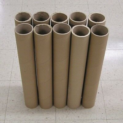 """Lot of 10 Heavy Duty Thick Wall Mailing Tubes 3"""" Inside Diameter Pick Length"""