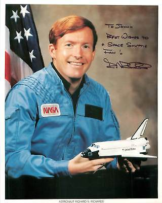 Richard N Richards NASA Astronaut Customized Hand Signed Autograph Photo