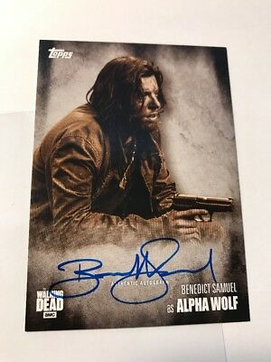 2016 Topps The Walking Dead Benedict Samuel Alpha Wolf Sepia 10/10 AUTO Season 5