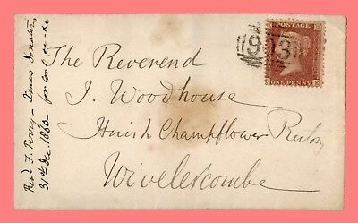 1860 Gb Single Franked To Wiveliscombe