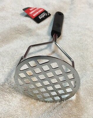 "Potato Vegetable Masher Kitchen Gadget Hand Tool 10"" Metal"