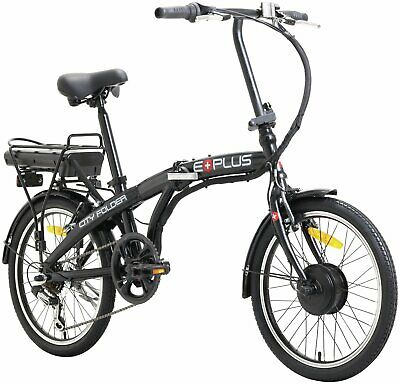E-Plus 20 Inch Folding Electric Bike 14 Inch Steel Frame 6 Gears