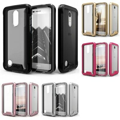 LG Tribute Dynasty Sp200 ZIZO ION Case Tempered Glass Tough Armor Hard Cover
