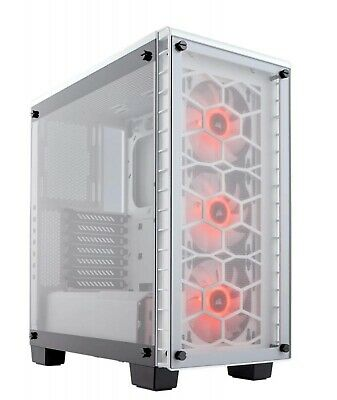 Corsair Crystal 460X RGB WHITE Mid Tower Case w Window Two-Panel Tempered Glass