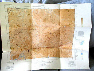 GOULBURN ROYAL AUSTRALIA SURVEY MAP 1970'S VINTAGE 73cm x 57cm
