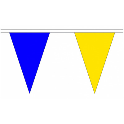 HANDMADE FABRIC BUNTING.TOUR DE YORKSHIRE.BLUE AND YELLOW .10.20,40ft 2 styles.