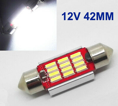 2x 42mm Soffitte 12 4014 SMD LED 3W CANBUS Nummerschild Lampe 12V Deutsche Post