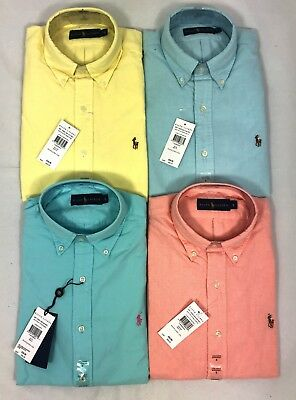 Polo Ralph Lauren Mens Genuine New Summer Solid Cotton Oxford Shirts All Sizes