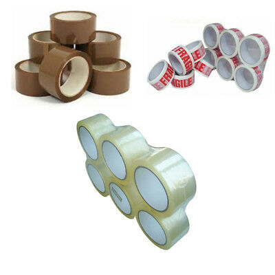 Brown / Clear / Fragile Strong Postal Parcel Packing Tape Packaging 48mm X 66m