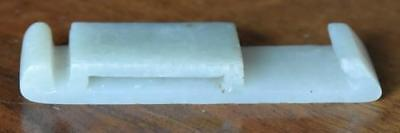 19Th Century Antique Chinese Carved Jade Scabbard Buckle Sword Belt Slide