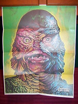 1970s Vintage CEREAL PREMIUMS Creature from black lagoon glow in dark poster