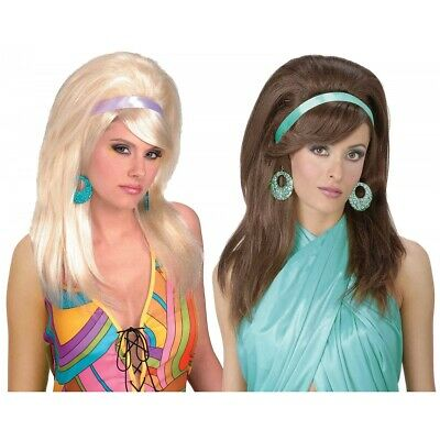 60s Mod Wig Costume Accessory Adult Halloween