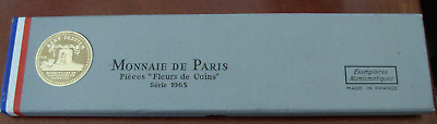 France 1965 Full 7 Coin Mint Set with Silver 2 Coins Original Package BU