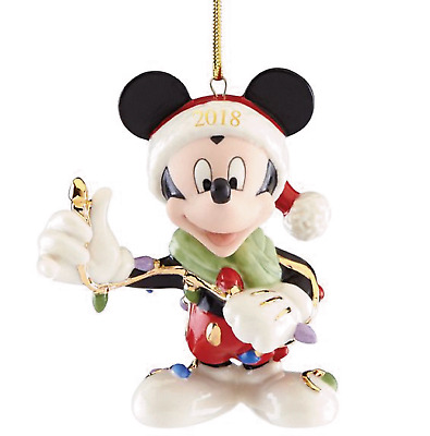 Lenox Disney 2018 Merry & Bright Mickey Ornament