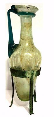 Ancient Roman Glass Amphora Jug .