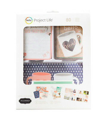 Project Life DIY HOME VALUE KIT (80) PCS 380670 CARDS & CHIPBOARD SHAPES