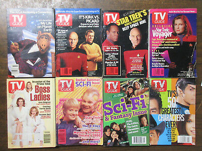 TV Guide Lot Star Trek News + Bits from the 1990s Deep Space Nine Voyager Picard