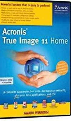 Acronis True Image 11 Home PC CD recover failed hard-drive disk imaging tools!