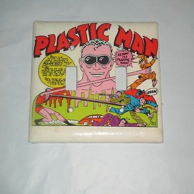 CLASSIC PLASTIC MAN Vintage Style 2 Hole Light Switch Cover Plate