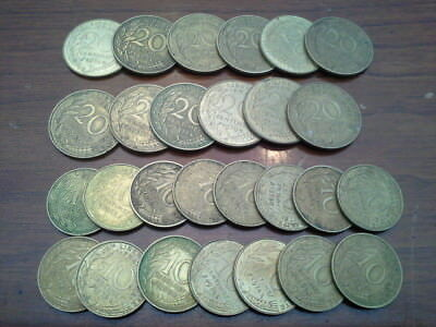 Lot Of 27 Centimes 1960s and 70s