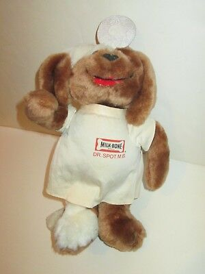 "Milk Bone Dog Biscuits Dr Spot Mb Mascot Advertising Plush 12"" Tall Russ Berrie"