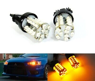 Amber 180 3157 P27/7W 182 Bulb 40 SMD LED Side Indicator Signal Tail Stop Light