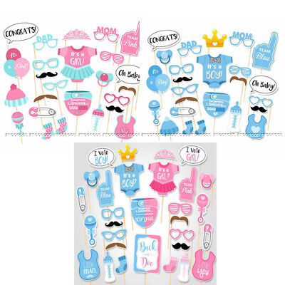Baby Shower Photo Booth Props Boy Girl I Vote Boy Or Girl Party