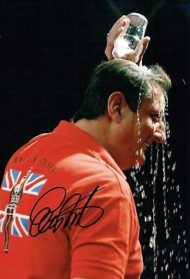 Eric BRISTOW SIGNED Autograph Darts Legend 12x8 Photo 2 AFTAL Crafty Cockney