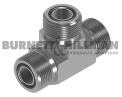 Burnett & Hillman ORFS Male Tee – O'Ring Face Seal Adaptors