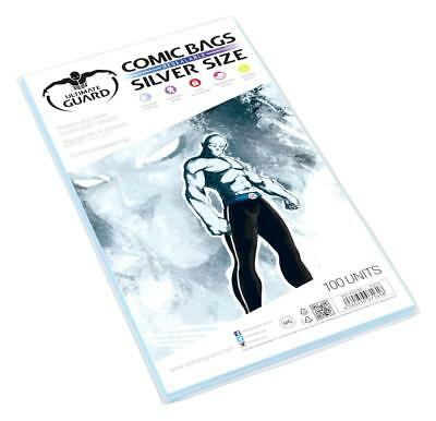 100 pochettes de protection Comics Silver size Volet refermable de 5 cm