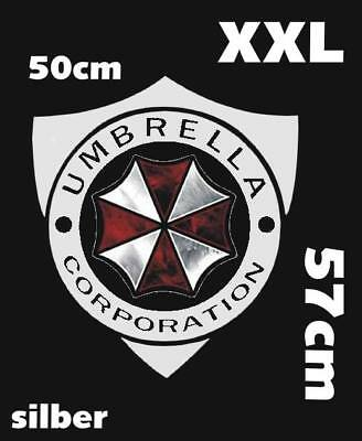 Resident Evil Umbrella Corporation Sticker Auto Aufkleber Car silber XXL 57cm