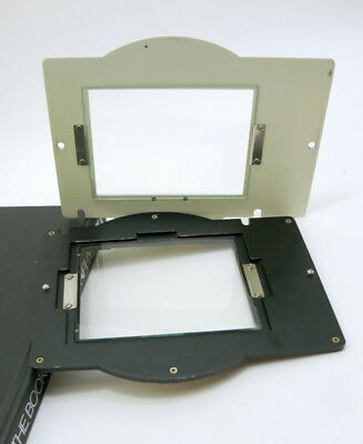 Polaroid 105, Glass, 2 Piece negative carrier for Omega D enlargers.