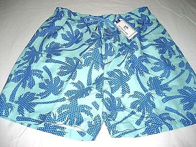 0cab13c2cf Southern Tide Mens Palm Trees Offshore Green Swim shorts Trunks NWT Ships  Free