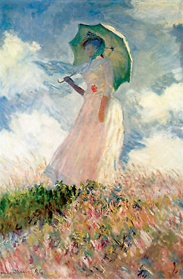 "Handmade Oil Painting repro Claude Monet Woman with a Parasol 24""x36"""