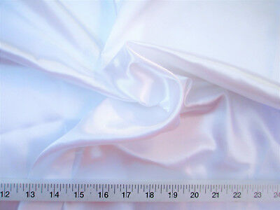 Discount Fabric Charmeuse Silky Bridal Satin Apparel White CS01